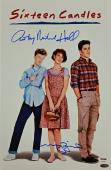 MOLLY RINGWALD + ANTHONY MICHAEL HALL Sixteen Candles Signed 11x17#2 Photo PSA
