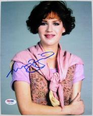 MOLLY RINGWALD Auto SIXTEEN CANDLES Signed 8x10 Photo PSA/DNA COA + Pic Proof