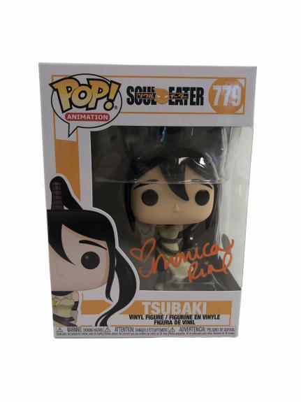 Monica Rial Autograph Funko POP Soul Eater Tsubaki #779 Signed JSA COA Orange