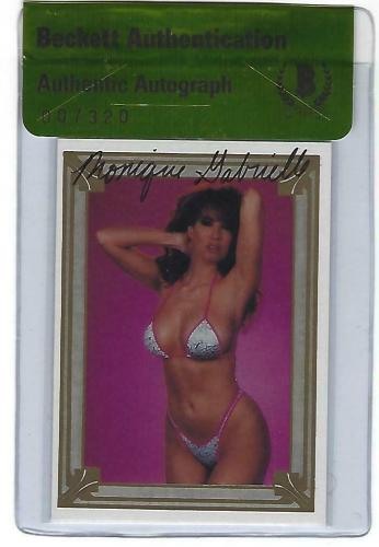 Monique Gabrielle Signed 1991 Imagine Scream Queens II Card #48 BAS Beckett COA