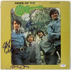 Monkees (3) Davy Jones, Tork & Dolenz Signed Album Cover W/ Vinyl PSA #V10645