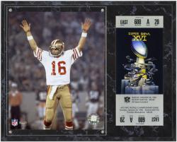 San Francisco 49ers Super Bowl XVI Joe Montana Plaques with Replica Ticket