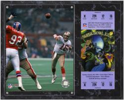 San Francisco 49ers Super Bowl XXIV Joe Montana Plaque with Replica Ticket - Mounted Memories