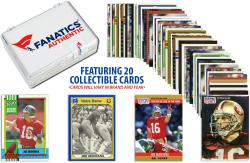 Joe Montana San Francisco 49ers Collectible Lot of 20 NFL Trading Cards - Mounted Memories