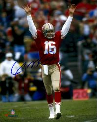 Joe Montana San Francisco 49ers Autographed 8'' x 10'' Arms Up Celebration Photograph - Mounted Memories