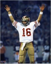 Joe Montana San Francisco 49ers Super Bowl XIX Autographed 8'' x 10'' Arms Up Photograph - Mounted Memories
