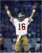 "Joe Montana San Francisco 49ers Super Bowl XIX Autographed 8"" x 10"" Arms Up Photograph"