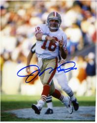 Joe Montana San Francisco 49ers Autographed 8'' x 10'' Referee in Background Photograph - Mounted Memories