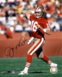 Joe Montana San Francisco 49ers Autographed 8'' x 10'' Ball Behind Head Photograph - Mounted Memories