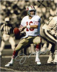 Joe Montana San Francisco 49ers Autographed 8'' x 10'' Color Scheme Photograph - Mounted Memories