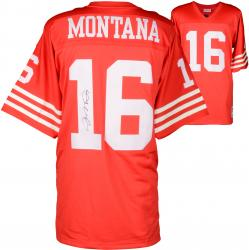 Joe Montana Autographed 49ers Authentic M&N Jersey