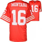 Joe Montana San Francisco 49ers Autographed Mitchell & Ness Replica Red Jersey