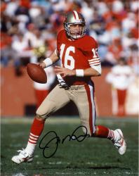 Joe Montana San Francisco 49ers Autographed 8'' x 10'' Run with Ball In 1 Hand Photograph - Mounted Memories