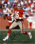 "Joe Montana San Francisco 49ers Autographed 8"" x 10"" Run with Ball In 1 Hand Photograph"