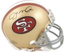 Joe Montana San Francisco 49ers Autographed Throwback Riddell Mini Helmet - Mounted Memories