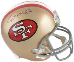 Joe Montana San Francisco 49ers Autographed Riddell Throwback Replica Helmet - Mounted Memories