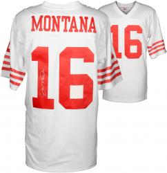 Joe Montana San Francisco 49ers Autographed White Mitchell & Ness Replica Jersey