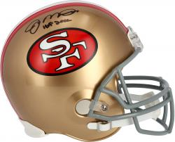 Joe Montana San Francisco 49ers Autographed Throwback Replica Helmet with HOF 00 Inscription