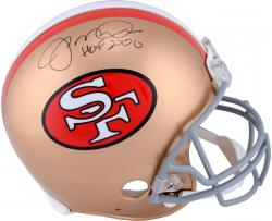 Joe Montana San Francisco 49ers Autographed Pro-Line Riddell Authentic Helmet with HOF 2000 Inscription - Mounted Memories