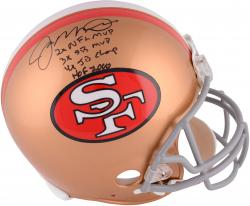 Joe Montana San Francisco 49ers Autographed Throwback Pro Line Helmet with Multiple Inscriptions-#1 of Limited Edition of 16