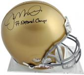 "Joe Montana Notre Dame Fighting Irish Autographed Pro Helmet with ""National Champs"" Inscription"