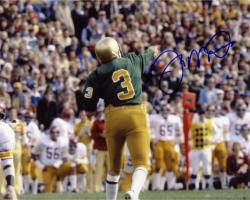 Joe Montana Notre Dame Fighting Irish Autographed 8'' x 10'' Back Shot Photograph - Mounted Memories