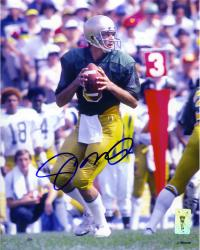 Joe Montana Notre Dame Fighting Irish Autographed 8'' x 10'' Looking To Pass Photograph - Mounted Memories