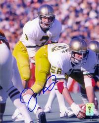 Joe Montana Notre Dame Fighting Irish Autographed 8'' x 10'' Under Center Photograph - Mounted Memories
