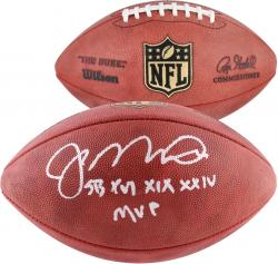 Joe Montana San Francisco 49ers Autographed Duke Pro Football with SB MVP Inscription - Mounted Memories