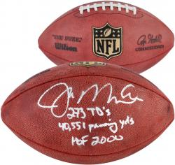 Joe Montana San Francisco 49ers Autographed Duke Pro Football with Multiple Inscriptions - Mounted Memories