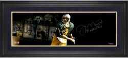 Joe Montana Notre Dame Fighting Irish Autographed 10'' x 30'' Filmstrip Photograph with 77 National Champ Inscription-#2-15 of Limited Edition of 16 - Mounted Memories