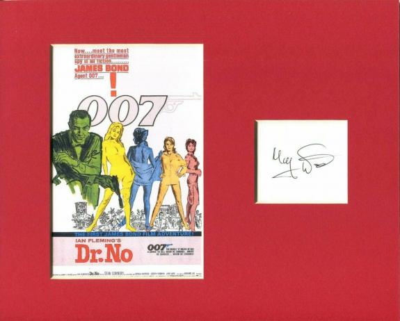 Monty Norman James Bond Theme Composer Rare Signed Autograph Photo Display
