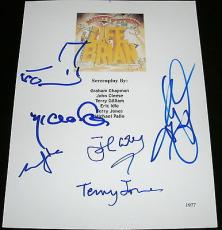 Monty Python Cast Signed Autograph Life Of Brian Full Script Gilliam Foot Sketch