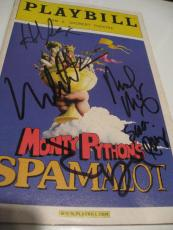 Monty Python Spamalot Cast Signed Autograph Playbill Mike Nichols Tim Curry X2