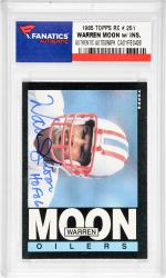 Warren Moon Houston Oilers Autographed 1985 Topps #251 Rookie Card with HOF 06 Inscription
