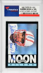 Warren Moon Houston Oilers Autographed 1985 Topps #251 Rookie Card with Run N Shoot Inscription