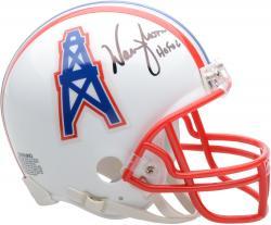 Warren Moon Houston Oilers Autographed Riddell Mini Helmet with HOF 2006 Inscription