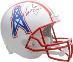Warren Moon Houston Oilers Autographed Riddell Replica Helmet with HOF 2006 Inscription