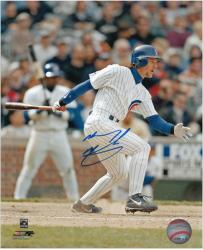 """Mickey Morandini Chicago Cubs Autographed 8"""" x 10"""" Off Balance Photograph"""