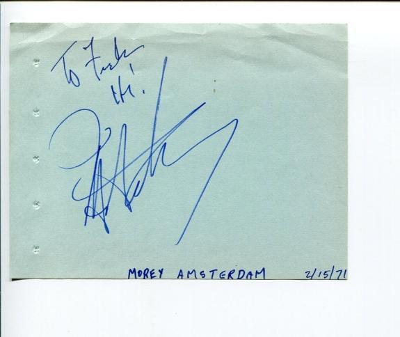 Morey Amsterdam Dick Van Dyke Show Mister Magoo's Christmas Signed Autograph