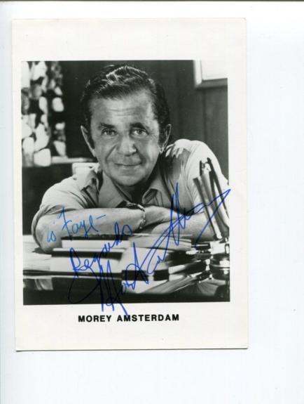 Morey Amsterdam Dick Van Dyke Show Mister Magoo's Christmas Signed Autogra Photo