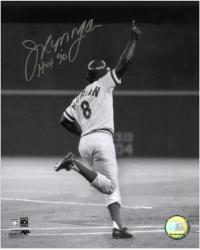 "Joe Morgan Cincinnati Reds World Series Home Run Autographed 8"" x 10"" Photograph with HOF 90 Inscription"