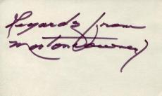 Morton Downey Sr The Irish Nightingale Singer Signed Autograph