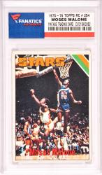 Moses Malone Utah Stars 1975-76 Topps Rookie #37 Card