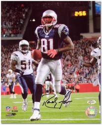 """Randy Moss New England Patriots 23 Touchdown Record Autographed 8"""" x 10"""" Photograph"""