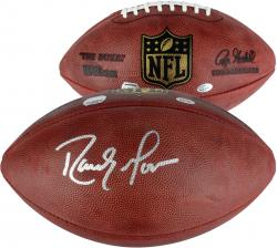 New England Patriots Randy Moss Autographed Duke Football - Mounted Memories