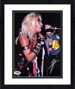 Motley Crue lead singer Vince Neil autograph signed 8x10 Photo ~ PSA/DNA COA