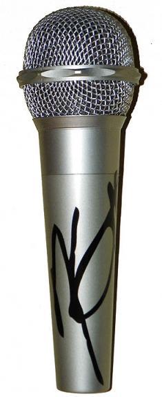 Motley Crue Nikki Sixx Facsimile Signature   Microphone