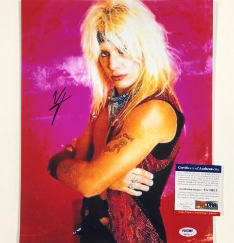 Motley Crue singer Vince Neil autograph signed 11x14 photo 1 PSA/DNA Witness COA