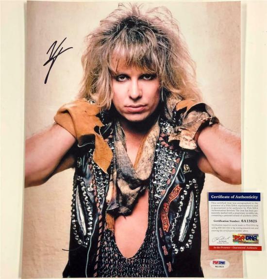 Motley Crue singer Vince Neil autograph signed 11x14 photo A ~ PSA Witness COA
